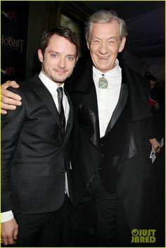 Elijah Wood & Ian McKellen at Premiere of The Hobbit An Unexpected Journey at the Ziegfeld Theatre in New York City (6-12-12) Thursday