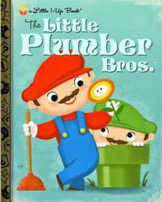 Los Angeles-based artist Joey Spiotto, or Joebot, has illustrated Nintendo video games titles as classic Little Golden Books as part of an on-going series.