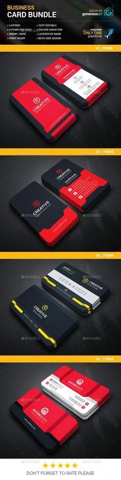 Business Card Template Vector EPS Bundle. Download here: https://graphicriver.net/item/business-card-bundle/17335340?ref=ksioks