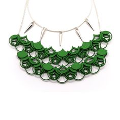 Modern Statement necklace / 3D Printed Jewelry / Creative Chain Mail jewelry. $100.00, via Etsy.