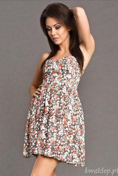 Zwiewna sukienka w delikatne kwiatuszki... #Sukienki - http://bmsklep.pl/emamoda-sukienka-braz-6402-3-sukienki