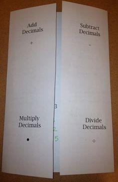 Middle School Math Foldables