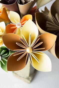 The best Kusudama Origami Flower tutorial!
