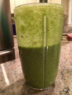 Yum. Kiwi banana spinach pineapple yogurt water