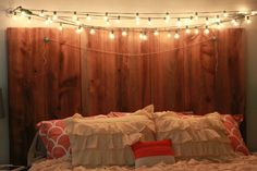 headboard and pretty lights