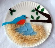 Paper Plate Bluebird Nest Craft - Spring Crafts for Kids - Nature Classroomu2026 & Paper plate crafts for kids (A-Z | Swallows Nest and Organizing