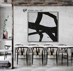 Abstract Painting Black White Abstract Art Large Wall Art image 4 Minimalist Painting, Minimalist Art, Texture Art, Texture Painting, Black And White Abstract, Black White, Wooden Bar, Large Wall Art, Contemporary Paintings