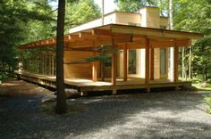 Image 4 of 20 from gallery of Les Abouts / Atelier Pierre Thibault. Photograph by Alain Laforest Plan Chalet, Timber Cabin, Classic Building, Small Buildings, House In The Woods, Modern Rustic, Exterior Design, Planer, Architecture Design