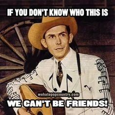 Hank Williams, born Hiram King Williams, was an American singer-songwriter and musician regarded as one of the most important country music artists of all time. Outlaw Country, Old Country Music, Country Music Artists, Country Music Stars, Country Singers, Country Guys, Country Musicians, Vintage Country, Country Roads