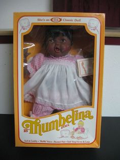 "African American Thumbelina 18"" Baby Doll Vintage NEW IN BOX 1983  #Ideal"