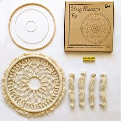 Mandala Life ART DIY Beige Round Macrame Kit - Make Your Own Bohemian Wall Hanging with All-Natural Materials-Creative Activity Set Includes Premium Cotton Yarn Cord Rope and Wooden Ring Hoop Craft Kits, Diy Kits, Dream Catcher Mandala, Gifts For An Artist, Crochet Mandala, Wooden Art, Wooden Rings, Creative Activities, Bohemian Decor