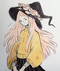 Quick ink and marker experiment✍️️ Design Festa at Tokyo Big Sight starts tomorrow, I'm at table A-342, so exiting! #designfesta #illustration #witch