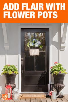 The Home Depot has everything you need for your home improvement projects. Click through to learn more about garden plants and more. Front Door Colors, Front Door Decor, Front Doors, Door Design, House Design, Cottage Porch, Small Front Porches, Paint Colors For Home, The Ranch