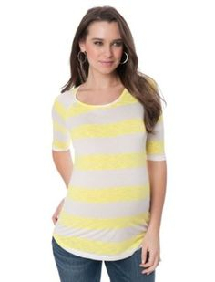A Pea in the Pod: Elbow Sleeve Scoop Neck High-low Hem Maternity T Shirt A Pea in the Pod. $29.99