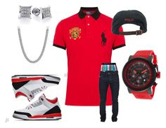 """Untitled #7"" by crenshaw-m4fia ❤ liked on Polyvore featuring Polo Ralph Lauren, red line, David Yurman and Diesel"