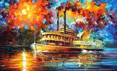 Vapor vapor de arte de pared óleo sobre lienzo por Leonid