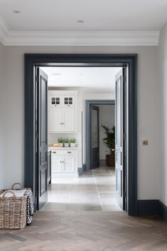 When you walk into the kitchen you want it to just open up in front of you; Humphrey Munson, Open Plan Kitchen Living Room, Internal Doors, Walk In Pantry, Decoration, Home Projects, Kitchen Design, Kitchen Ideas, Kitchen Layouts