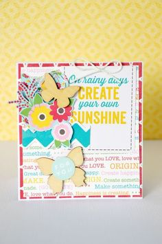 For You card by Leanne Allinson featuring Jillibean Soup Sew Sweet Sunshine Soup