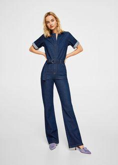 d10aaf61c94 Jeans-overall mit gürtel - Damen
