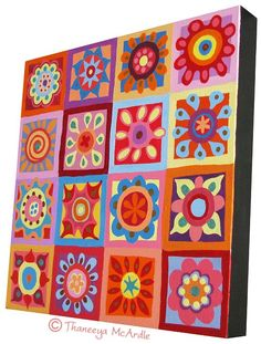 Abstract Art Flower Painting Lesson: How to Paint Abstract Flowers in Acrylics