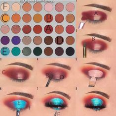 Halo Eye Makeup, Eye Makeup Steps, Makeup Eye Looks, Beautiful Eye Makeup, Eye Makeup Art, Skin Makeup, Morphe Eyeshadow, Makeup Morphe, Jaclyn Hill Eyeshadow Palette