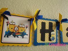 Despicable Me Birthday Banner by 21Creations on Etsy, $35.00