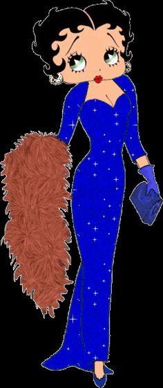gif:betty boop robe soirée
