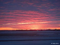Sally Saw...: Skywatch Friday - Red Sky in the Morn