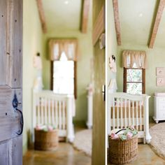 Pink and green nursery 2 - perfect colors - green and khaki