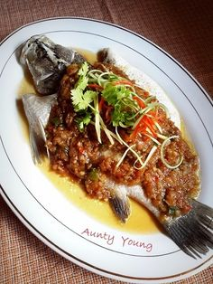 Aunty Young(安迪漾): 菜脯蒸鱼 (Preserved Radish Steamed Fish)