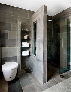 Cool Basement Bathroom Ideas On Budget, Check It Out! Basement Bathroom Ideas – What should you think about when developing your basement bathroom? Right here are basement bathroom ideas to think about prior to you begin. Contemporary Bathroom Designs, Bathroom Layout, Modern Bathroom Design, Simple Bathroom, Bathroom Interior Design, Master Bathroom, Contemporary Design, Bathroom Cabinets, Modern Bathrooms