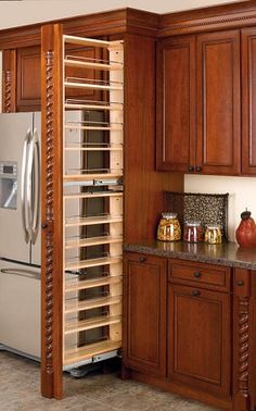Kitchen decor, kitchen cabinets, kitchen organization, kitchen organizations and of course. The kitchen is the center of the home, so it's important to have a space you love! These pins are my favorite kitchens and kitchen ideas. New Kitchen Cabinets, Built In Cabinets, Kitchen Pantry, Red Kitchen, 10x10 Kitchen, Diy Cabinets, Spice Cabinets, Taupe Kitchen, Building Kitchen Cabinets