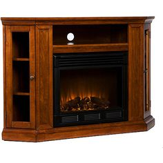 """Silverado Electric Media Fireplace, for TVs up to 46"""", MahoganyHeats 1500-cubic-feet in only 24 minutes (14'x14'x8') 120 V-60Hz, 1500W/5000BTUs, 12.5 amp Remote control operated (one CR2025 battery included) Mahogany finish  Adjustable shelves - two can move up or down (2"""")Triangular storage shelves: 8""""W x 7.5""""D x 8""""H Open Shelf: 23""""W x 13""""D x 5""""H Mantel dimensions: 48""""W x 15.75""""D x 32.25""""H (flat wall Corner dimensions: 48""""W x 27""""D x 32.25""""H (corner)Firebox (included) dimensions: 23""""W x 20""""H"""