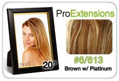 "Pro Lace 20"", #6/613 Chestnut Brown w/Platinum Highlights"