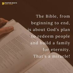 Everything in Scripture is written for our encouragement. That's a big statement — but it's true! Even the tough parts of God's Word are there to ultimately encourage our lives in the right direction. Rick Warren