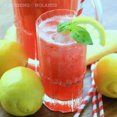 Strawberry Pineapple Lemonade by Noshing With The Nolands - A quick and easy strawberry pineapple lemonade to be enjoyed on a picnic or anytime.maybe added some Patron Teq! Fruit Drinks, Non Alcoholic Drinks, Cocktail Drinks, Healthy Drinks, Cocktail Recipes, Pineapple Alcohol Drinks, Healthy Eats, Nutrition Drinks, Cold Drinks