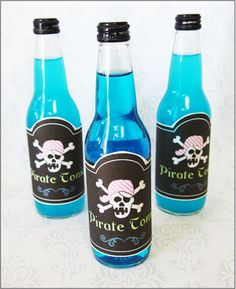 """Bottle Labels """"Pink Pirate"""""""