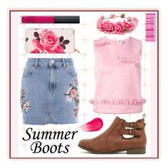 """""""Summer Rose"""" by goldenopal ❤ liked on Polyvore featuring Topshop, MSGM, Kate Spade, Forever 21, Marc Jacobs and NARS Cosmetics"""