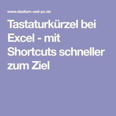 Tastaturkürzel bei Excel - mit Shortcuts schneller zum Ziel