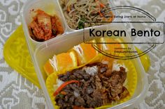 Korean Bento - a scrumptious dinner leftover for lunch the following day.  Containers by Easylunchboxes