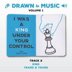 Drawn to Music - Volume 1 : Track 2 - King by Years & Years #sketchbookproject2017 #drawntomusic #volume1 #S164511 #halfandhalf #blackwhiteandblue #king #yearsandyears