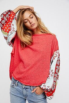 New Free People Blossom Thermal Printed Balloon-Sleeve Ballet combo size s m l Free People Clothing, Clothes For Women, Mermaid Sequin Dress, Punk Fashion, Womens Fashion, Lolita Fashion, Retro Fashion, Lace Tops, Beautiful Gowns