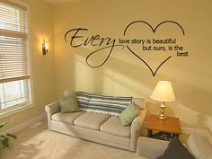 Wall Decal  Every Love Story Quote by VinylsDirect on Etsy