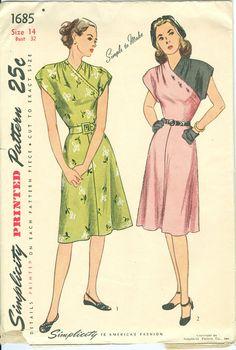 vintage dress pattern