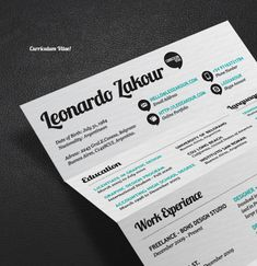 Great Resume Designs that Catch Attention - love the font