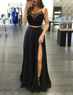 2017 Custom Made Black Popular Two Pieces Floor Length Spaghetti Straps Prom Dresses uk 2017 Custom Made Black Prom Dress,Popular Two Pieces Evening Dress,Floor Length Party Gown,Spaghetti Straps Pegeant Dress,High Quality Straps Prom Dresses, Black Prom Dresses, Cheap Prom Dresses, Prom Party Dresses, Sexy Dresses, Cute Dresses, Homecoming Dresses, Beautiful Dresses, Dress Prom