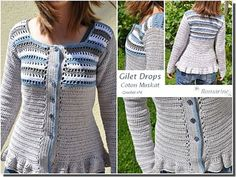 Ravelry: Project Gallery for 118-28 Jacket with stripes pattern by DROPS design