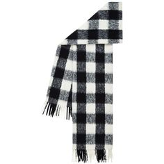 Hobbs Boucle Check Scarf, Black/White ($75) ❤ liked on Polyvore featuring accessories, scarves, hobbs, black and white shawl and black and white scarves