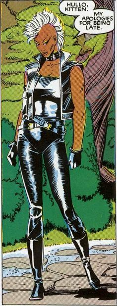 Storm - X-men #173 : debut of the mohawk. My favorite Storm picture.