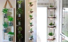 Te mostramos todo tipo de ideas curiosas, originales, sencillas y elegantes para decorar con plantas la cocina y darle vida y alegría. ¿Quieres verlas?